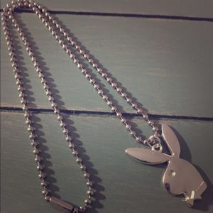 Jewelry - Silver Ball Chain Necklace w/ Playboy Bunny